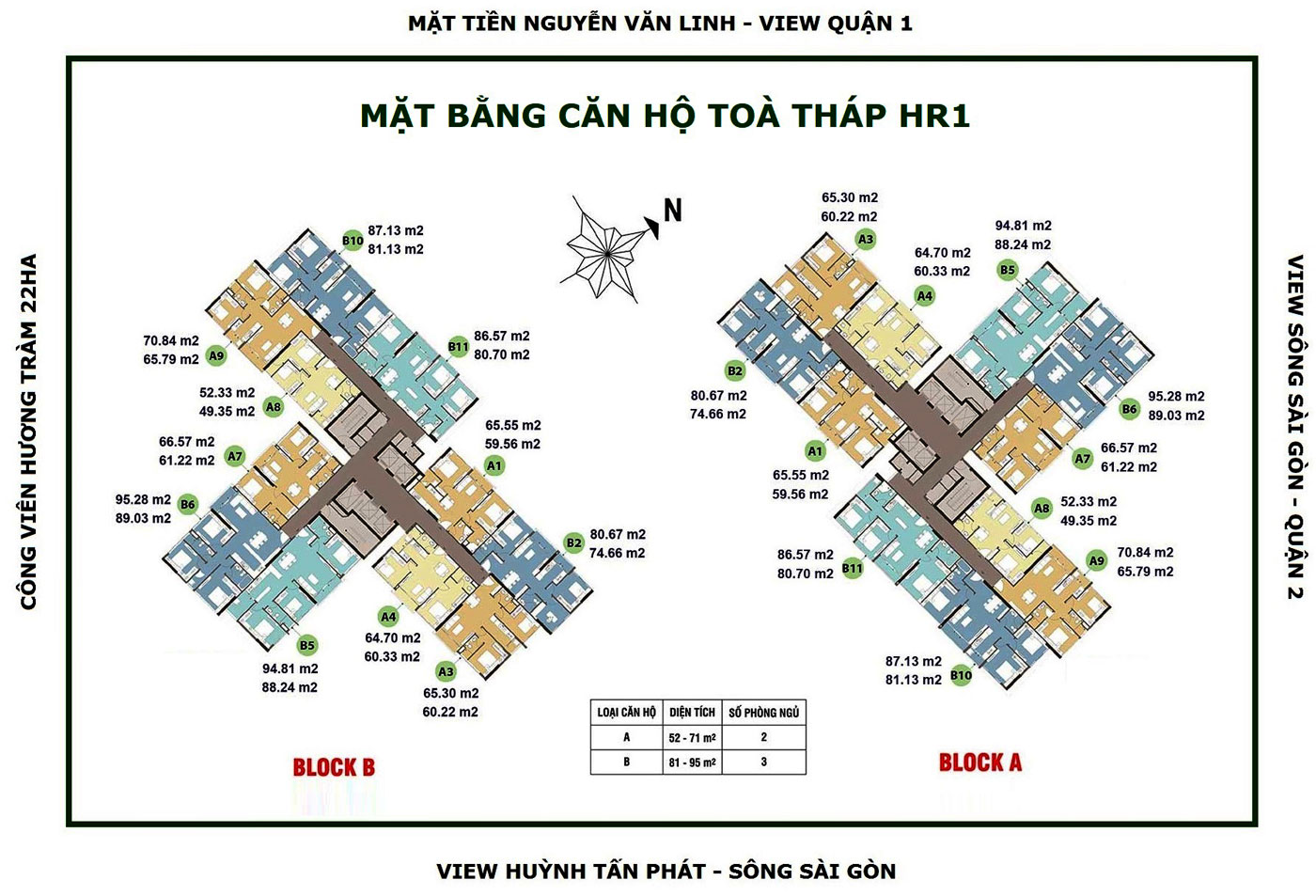 mat bang block hr1 du an can ho eco green sai gon