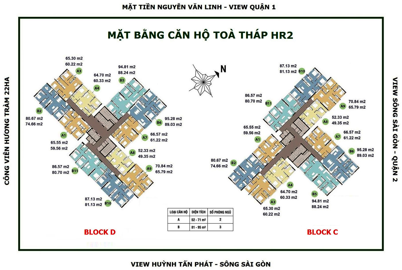 mat bang block hr2 du an can ho eco green sai gon